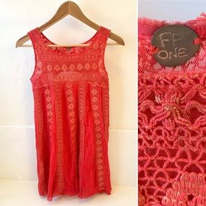 FP ONE Free People mini crochet dress XS
